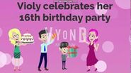 Violy celebrates her 16th birthday party
