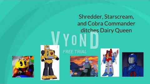 Shredder, Starscream, and CC ditch Dairy Queen