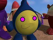 Foo woth glowing purple eyes