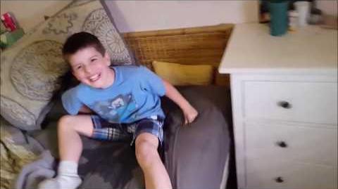 Kid Temper Tantrum Pees On Daddy's Bed - Original -