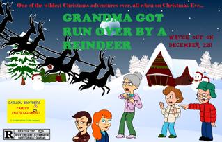 Grandma Got Run Over by a Reindeer Poster