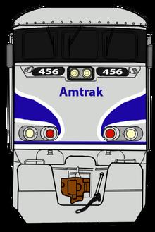 Amtrak f59phi 456 front by railtoonbronyfan3751-dbk165r