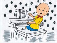 Caillou at his piano