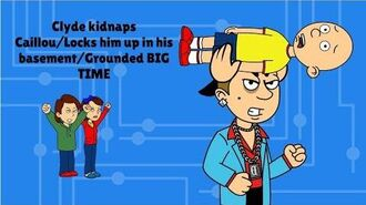 Clyde Kidnaps Caillou Locks him up in the basement GROUNDED BIG TIME Beaten By Tbone Animate