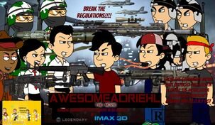 Awesomeadriehl the Movie NEST Army and ANTI-K12 Resistance Fighters vs UTUBETROLL POLICE Army and DEPED Student Council Poster!!!!!
