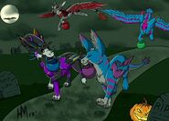 1509854687.heartwolfdragon dutchie halloween with friends by sorasisneywolf