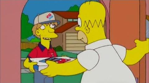 Simpsons Dominos Pizza Advert