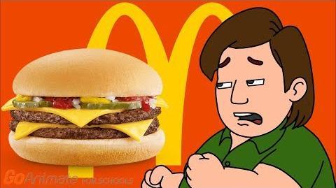 Boris Goes To McDonalds/Eats Too Many Burgers/Gets Fat/Grounded By Doris