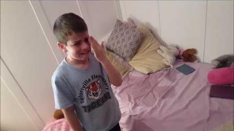 Kid Temper Tantrum Pees On Sister's Bed - Original -