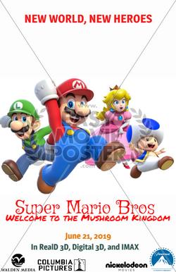 Official Super Mario Bros movie poster