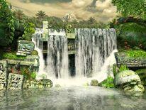 Anime waterfall by blaze mage-d32rsau