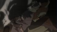 Goblin Champion hits Goblin Slayer