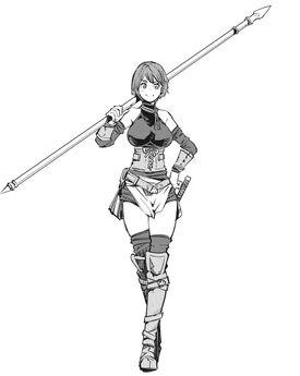 Female-spear warrior