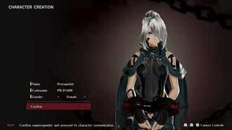 God Eater 3 Character Creation (All Options)