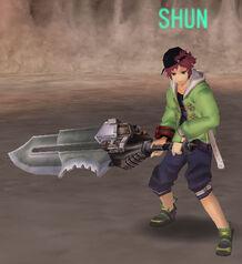 Shun in-game