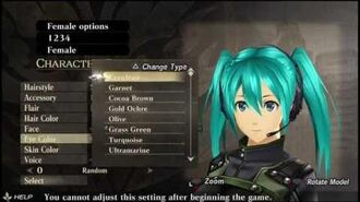 GOD EATER RESURRECTION Female Character Creation