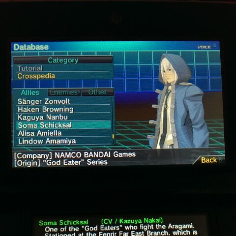 Soma in Project X Zone