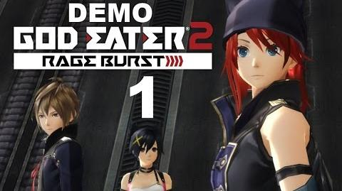 God Eater 2 Rage Burst PS4 PS VITA JAPANESE DEMO Gameplay 1 - Character Creation Early Missions