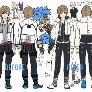 Hiro Kamui (Casual Ver) Design Sheet for the GE2 Manga