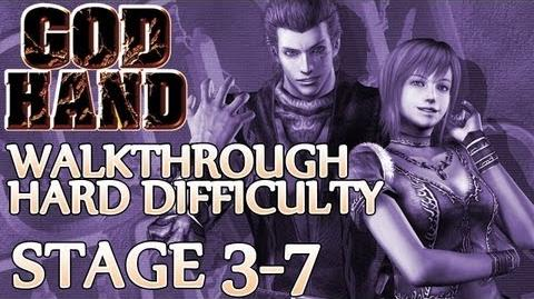 ★ God Hand Walkthrough ▪ Hard Mode - Stage 3-7 ▪ Shannon Boss Fight 1