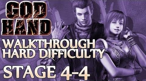 ★ God Hand Walkthrough ▪ Hard Mode - Stage 4-4 ▪ Three Evil Stooges Boss Fight 2