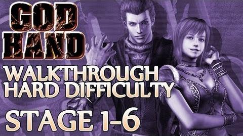 ★ God Hand Walkthrough ▪ Hard Mode - Stage 1-6 ▪ Elvis Boss Fight 1