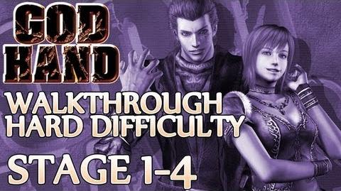 ★ God Hand Walkthrough ▪ Hard Mode - Stage 1-4 ▪ Gold & Silver Boss Fight