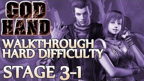 ★ God Hand Walkthrough ▪ Hard Mode - Stage 3-1