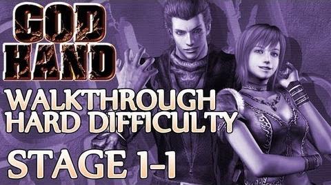 ★ God Hand Walkthrough ▪ Hard Mode - Stage 1-1