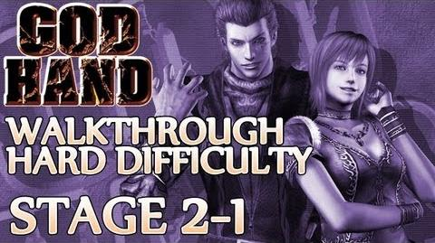 ★ God Hand Walkthrough ▪ Hard Mode - Stage 2-1