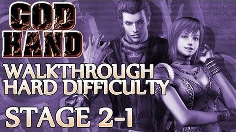 ★ God Hand Walkthrough ▪ Hard Mode - Stage 2-1