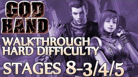 ★ God Hand Walkthrough ▪ Hard Mode - Stage 8-3 8-4 8-5 ▪ Mini-Boss Gauntlet