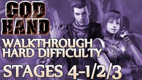 ★ God Hand Walkthrough ▪ Hard Mode - Stage 4-1 4-2 4-3
