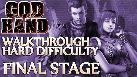 ★ God Hand Walkthrough ▪ Hard Mode - Final Stage ▪ Azel Devil Hand 2 & Angra Boss Fights