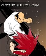 Cutting bull's horn