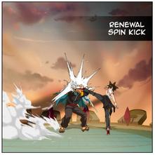 Renewal spin kick