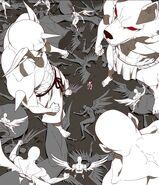Irregularly shaped Nephilim and Angels against Uma
