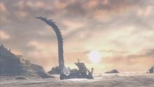Aletto mostro leviatano distrugge nave delo
