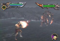 Batalla Ares contra Kratos