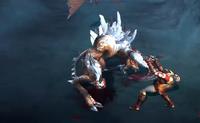 Kratos luchando con el erebus