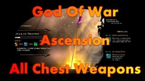 GOD OF WAR ASCENSION MULTIPLAYER ALL CHEST WEAPONS GAMEPLAY HD