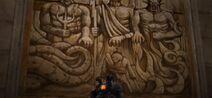 Murale Poseidone ade zeus appaiono a pathos verde III