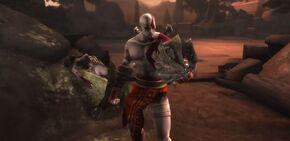 Kratos con el Azote de Erinias