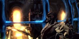 Kratos usando los Ojos de la Verdad