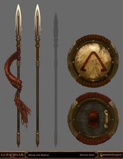 Z spear and shield
