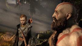 Kratos con su hijo Atreus