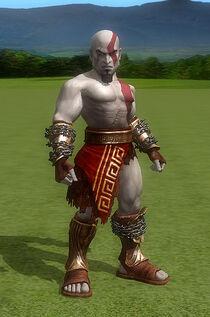 Kratos jugando golf