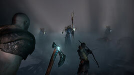 God of War - Screenshot - Kampf Hexe