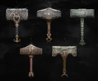 Diseños descartados del Möjolnir