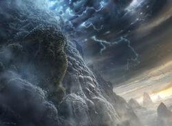 Titanes escalando el Monte Olimpo